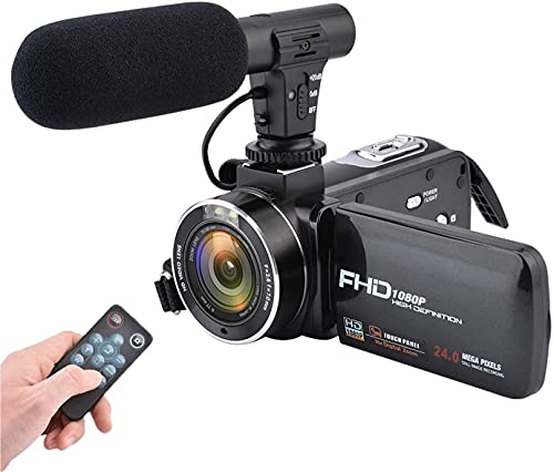 Video Camera Camcorder 3.0 Inch IPS Touch screen FHD 1080P Vlogging Camera with Flash, 24MP Digital Camcorder (2Dx10L)