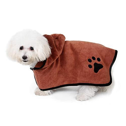 ZHDIN Toalla de secado para mascotas de microfibra súper absorbente para mascotas