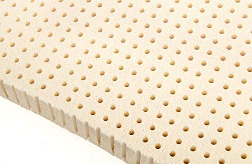 Ultimate Sleep 100% Natural White Latex Foam Mattress Pad Topper | Best for Orthopedic Support | Ergonomic and Eco Friendly (2 Inch Thick Medium Soft | California King Size) (ILD of 24-27)