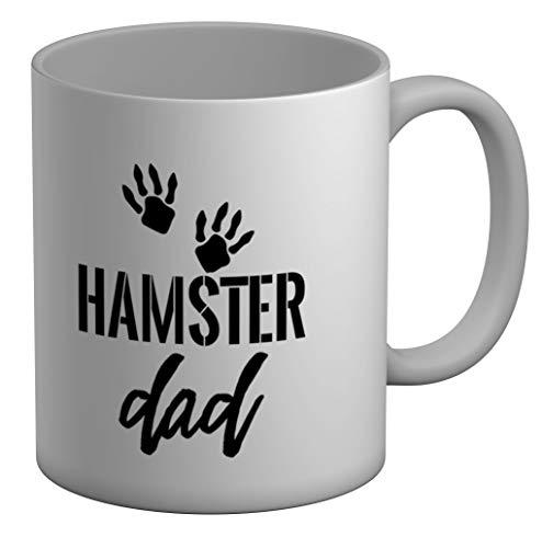 Shopagift Hamster Dad - Taza grande (325 ml), color blanco