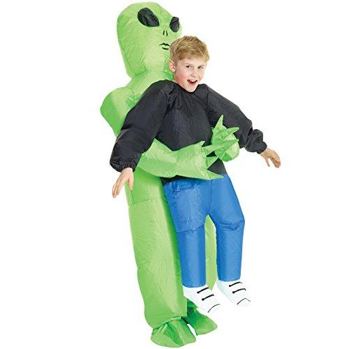 Morph Aufblasbares Alien Kostüm für Kinder, lustiges Halloween Kostüm für Jungen und Mädchen - Einheitsgröße