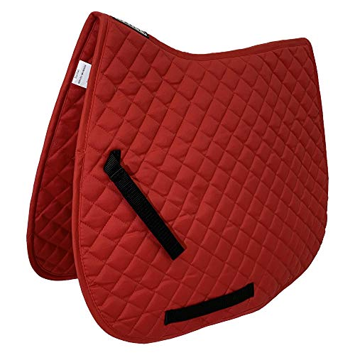 ASTILE EQUESTRIAN SADDLE PADS GENERAL PURPOSE SADDLE PADS NUMNAH QUILTED COBFULL RED