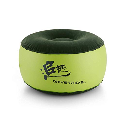 MIAO Nice and funny inflatable stool sofa home decoration portable chair air-cushioned comfortable seat great as footrest and shoes to wear footstool + free inflatable pump (55cm x 30cm, green)