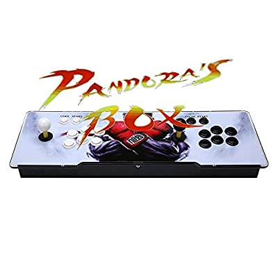 AB INC Video Game Console, Arcade Machine Over 1200 Latest Classic Games, 2 Players Pandora's Box 5S Multiplayer Home Arcade Console Games All in 1 Non-Jamma PCB Double Stick Newest Design Power HDMI from AB INC
