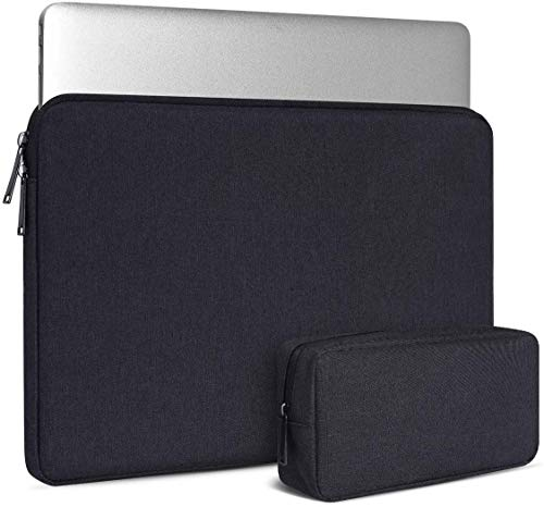 Dynotrek Tiny 11.6 inch Laptop Tablet Ipad Tablet Sleeve Case Cover with Charger Pouch Water Resistance Bag for Men Women Unisex Lightweight -Denim Black ( 31 TI )