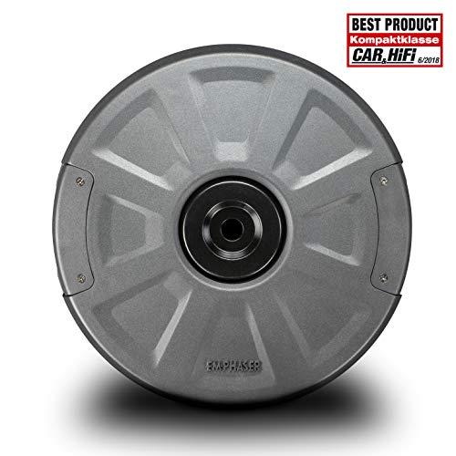 EMPHASER EBS108A - Best Product Award - kraftvoller 20 cm Aktivsubwoofer für das Reserverad
