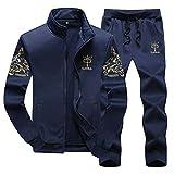 WYX Herren Set Fashion Sportanzug Sweatshirt + Jogginghose Herren Bekleidung Slim...
