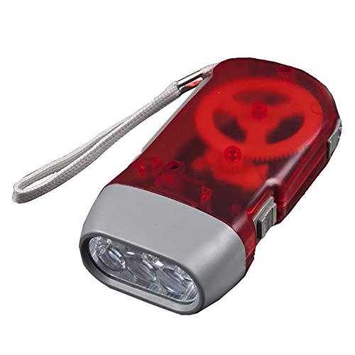 Ba30DEllylelly 3 LED Mano presionando Dynamo Crank Power Wind Up Linterna Antorcha Luz Mano Press Crank Camping Lámpara Luz