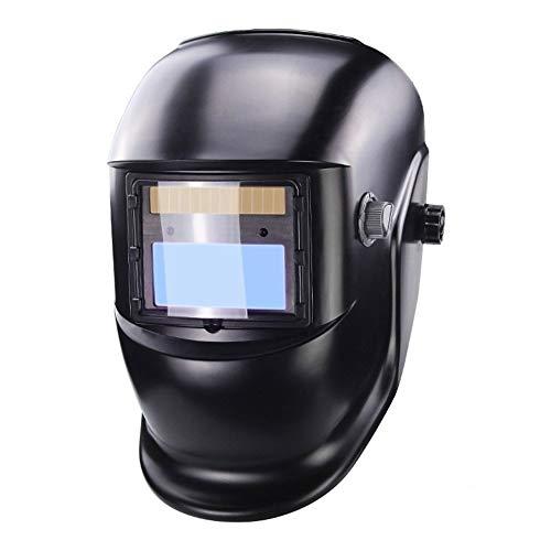 Casco de la tapa de soldadura Máscara de soldadura - Solar automática ennegrecimiento de cristal máscara de soldadura ennegrecimiento ingresar sin demora Visión Sin Bochornoso trabajo El traba