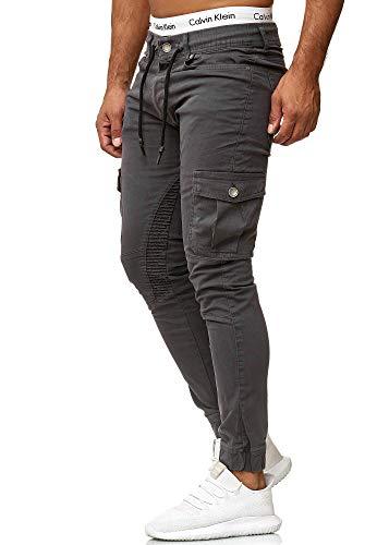 OneRedox Herren Chino Pants | Jeans | Skinny Fit | Modell 3207 Antrazit 31/32