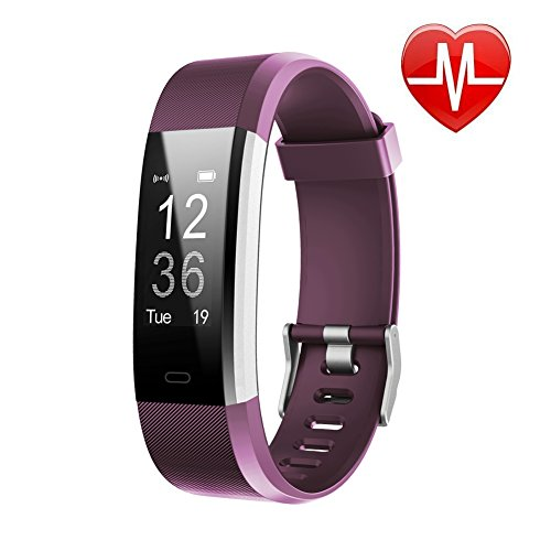 top 10 pedometers LETSCOM Fitness Tracker HR, activity tracker with heart rate monitor, waterproof smart …