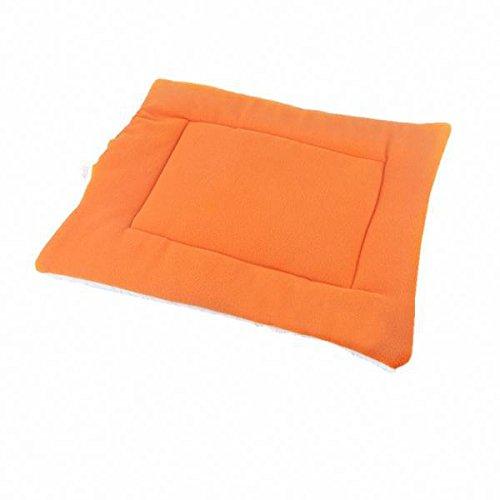 LOVIVER Husdjur hund katt sovmatta kennel dyna valphus spjällsäng kudde orange S