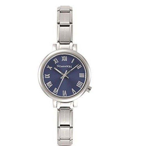 Nomination Damen Analog Quarz Uhr mit Edelstahl Armband 076010/005