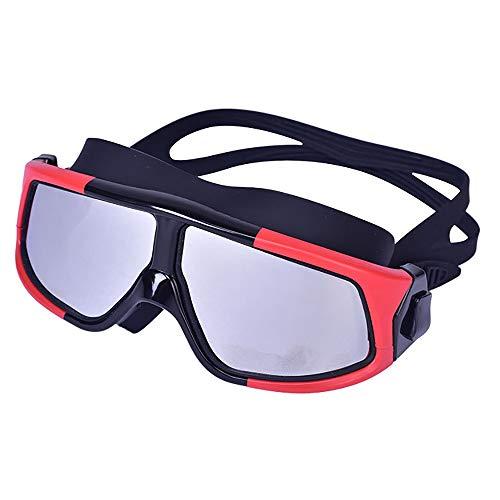 Sunbobo Traje de máscara Gafas de Gafas de natación Anti-UV Duradera Gafas de Buceo Anti-Niebla Kit de Engranajes de Snorkel Ajustable Adecuado para Snorkeling (Color : Red, Size : One Size)
