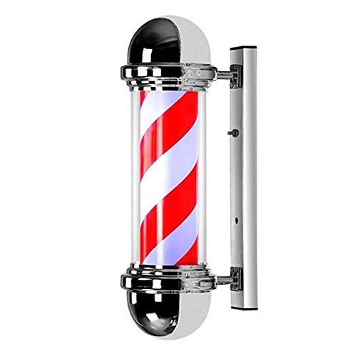Barber Pole LED Pole Pole Barbier lumineux d'extérieur pour salon professionnel Lampe murale vintage Lumière Rouge Bleu et Blanc 73 cm
