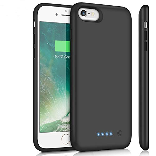 Battery Case for iPhone 6Plus/6s Plus/7Plus /8Plus, Upgraded 8500mAh Portable Charging Case Extended Battery Pack for iPhone 6s Plus/6 Plus/7 Plus /8 Plus Rechargeable Charger Case(5.5 inch)- Black