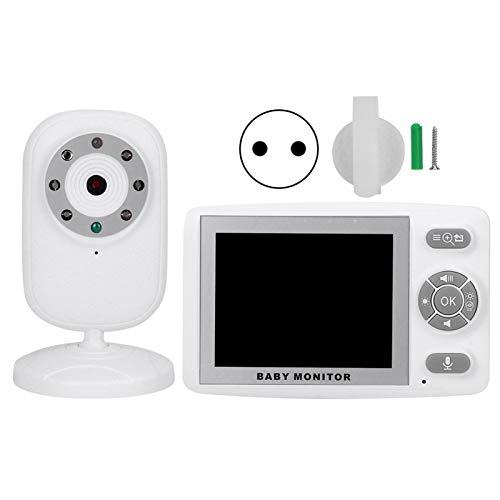 Deror 3,5-inch LCD-display draadloze camera babybewaking 2-weg talk infrarood nachtzicht bewaking AC100-240V (Europese voorschriften (100-240 V)