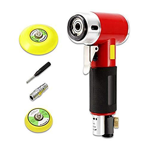 Dyna-living - Lijadora excéntrica de 50 mm neumática de 3 pulgadas, herramienta de lijadora excéntrica de 50 mm y 75 mm, 15000 rpm (rojo)
