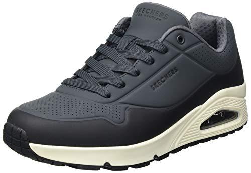 Skechers Uno- Timeline, Zapatillas para Caminar Hombre, Multicolor (GYBK Black Durabuck/White Trim), 41 EU