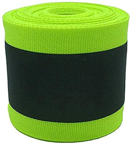 OOKOO - Cinta de seguridad reflectante de tela apta para coser a la ropa con área reflectante grande, color verde, 33 ft, Green-33ft