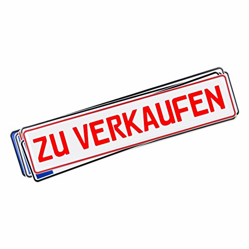 Original KFZ-Kennzeichen, beschriftet mit Hochleistungsfolie, ZU VERKAUFEN in rot 0249
