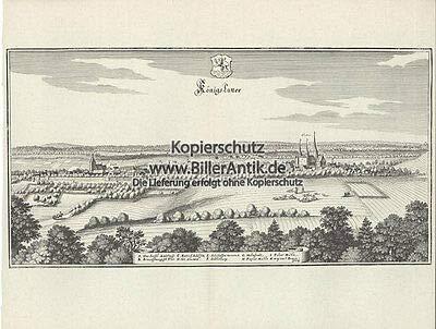 Königslutter Amtshaus Adelsitz Kloster Pulvermühle Kupferstich Merian O 0309