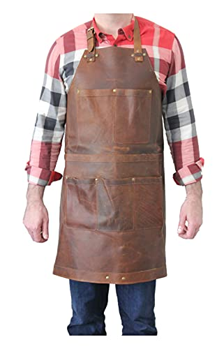 HUNT COUNTRY Leather Apron – Grill Apron, Woodworking Apron, Forging Apron, Brewing Apron