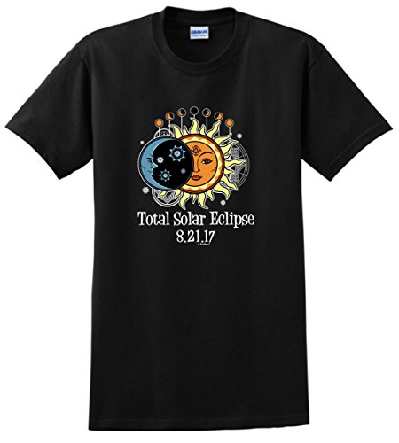 Solar Eclipse Viewing Glasses Total Solar Eclipse 2017 Solar Eclipse Viewing T-Shirt Large Black