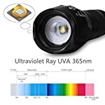 hanwey UV Flashlight Black Light, 365nm LED UV Torch Ultraviolet Blacklight Detector for Dog/Cat Urine, Pet Stains,Pet Clothing Food Fungus and Bed Bug,IP65 Waterproof,3 Modes 11