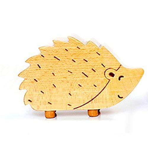 RongDuosi Hedgehog houten muziekdoos mannen en vrouwen creatieve verjaardagscadeau uurwerk muziek hemel stad muziekdoos Mooie home home decoraties voor woonkamer