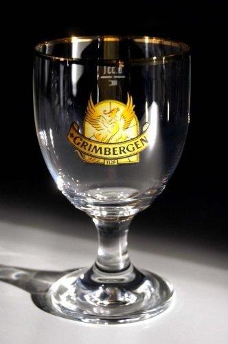 'Grimbergen 'bordo oro di Belgio Bicchieri da birra, 2pezzi