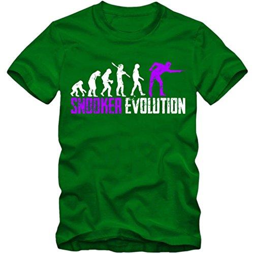 Snooker Evolution #1 T-Shirt | Billiard | Billiardprofis | Snookerprofi | Herren | Shirt, Farbe:Hellgrün (Kelly Green L190);Größe:XL