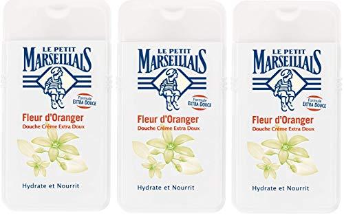 Le Petit Marseillais Douche Crème Extra Doux Fleur d'Oranger 250 ml Lot de 3