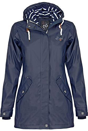 Dry Fashion Damen-Regenmantel Kiel Farbe Navy, Größe 40