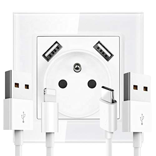 ClayTM - Interruptor de enchufe eléctrico para iPhone X, iPhone 8/8 Plus,...