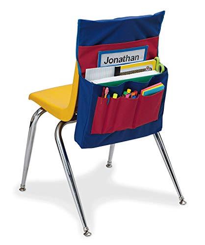 Chair Pockets Chair Back Organizer NeatSeat Classroom Chair Organizer Oversized Name-Tag Card Seat Sacks Chair Bag Pocket Chart Chair Storage Chairback Buddy Classroom Daycare Seatback Stuff Storage