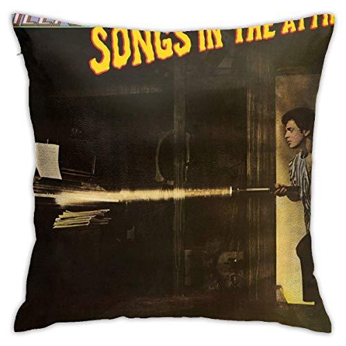 asdew987 Band Billy Joel Songs in The Attic Sofa Kissenbezug Dekorative Sofa Kissenbezug Wohnzimmer Schlafzimmer Kissenbezug 45,7 x 45,7 cm
