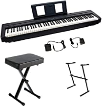 Yamaha P45 Digital Piano Bundle with Z Stand and Bench, Black