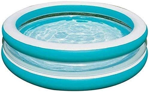 XKstyle Sommer-Art und Weise faltet Swimmingpool, Kinderbecken im Freien aufblasbaren transparenten Spielcenter, EIN großer Außenpool, EIN Familien-Pool 203 * 51 cm,