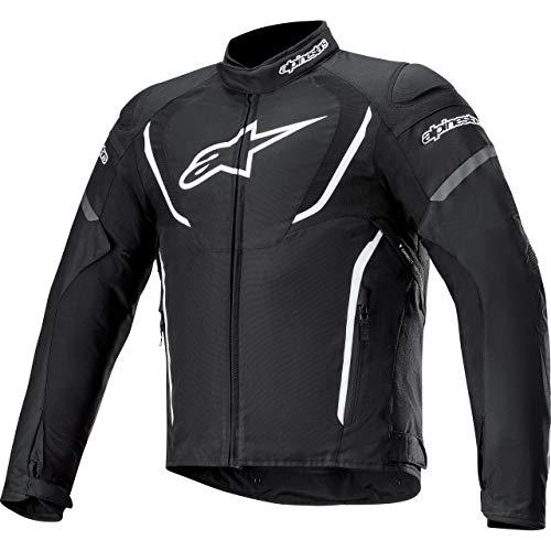 Alpinestars Motorradjacke mit Protektoren Motorrad Jacke T-Jaws V3 Waterproof Textiljacke schwarz/weiß 3XL, Herren, Sportler, Ganzjährig