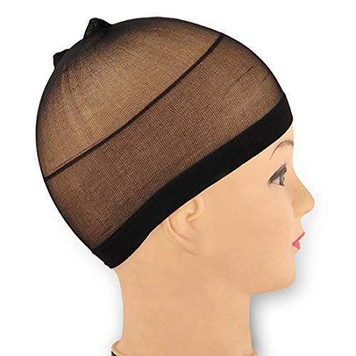 Qhtongliuhewu - Set di 2 parrucche elastiche, traspiranti, elasticizzate, calza della Befana per cosplay, accessorio unisex