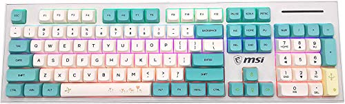 REUT 129 XDA Tastenkappen, PBT hintergr&beleuchtete Tastenkappen Ball Keycap Set für Cherry MX mechanische Tastatur MX 104 87 61 Melody 96 KBD75 FC980M SP64 GK64 Tada68 (Spring Limited)