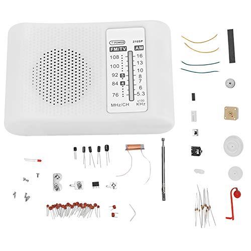 CF210SP AM/FM Doppelfrequenzband-Radio-Bausatz Elektronischer Montagesatz Einfach zu löten und zu verwenden