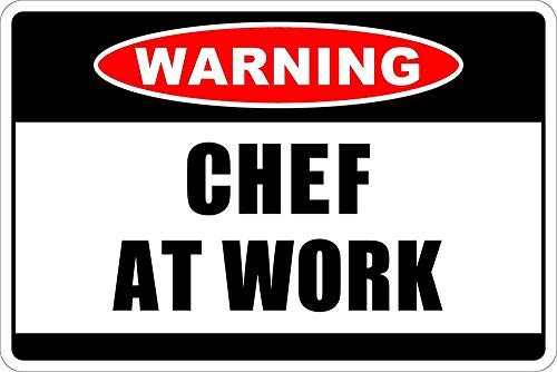 Lorenzo Warning Chef at Work Vintage Metal Vintage metalen plaat Wand IJzer Schilderij Plaque Poster waarschuwingsbord Cafe Bar Pub Bier Club Decoratie