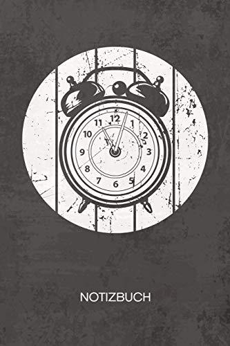 NOTIZBUCH A5 Dotted: Retro Sammler Notizheft GEPUNKTET 120 Seiten - Wecker Notizblock Retro Uhr Skizzenbuch - Vintage Geschenk für Retro Liebhaber Vintage Liebhaber 90er Kind