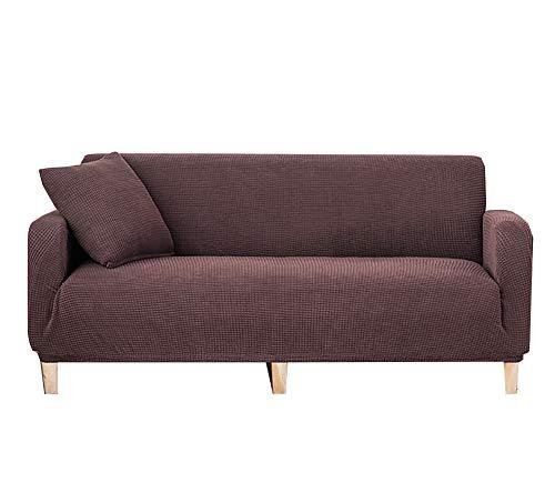 XCYYBB Funda elástica para sofá (1 Pieza, Jacquard Suave, 1/2/3 plazas, Funda para sofá sofá de 1/2/3 plazas,con Parte Inferior elástica para Sala de Estar -H Tres+Cuatro Asientos