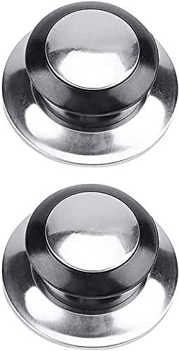 Pomo Para Tapadera de Sartén 65mm  Pomo Para Tapaderas Pomo Olla Universal Tirador de Tapadera Pomo Para Tapa Cacerola Aluminio+ PVC Pack2