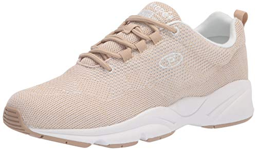 Propét Women's Stability Fly Sneaker, Sand/White, Numeric_10