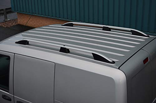 Barras de techo para L1H1 Transit Connect (2002-12) aluminio plateado