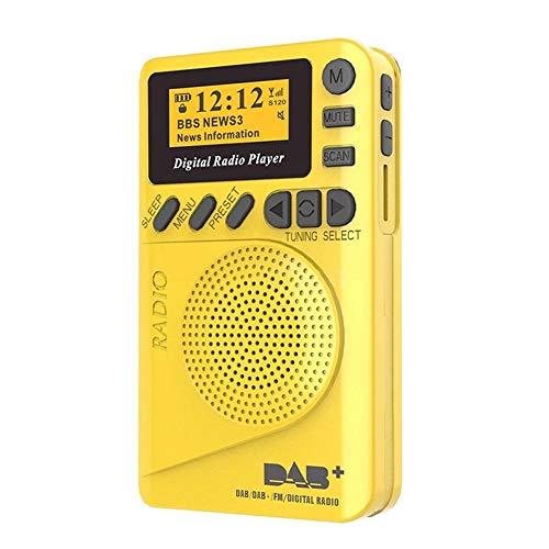 CGGA New Pocket Radio Portable DAB+ Digital Radio, Rechargeable Battery FM Radio LCD Display Loudspeaker for Sport